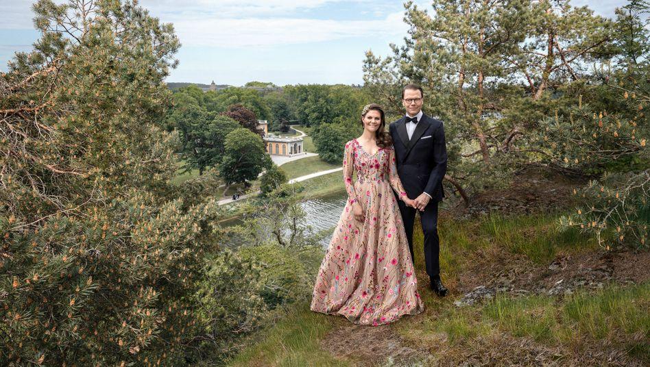 Victoria und Daniel von Schweden vor ihrem Hochzeitstag