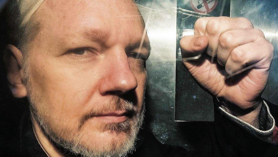 Häftling Assange in London im Mai 2019:Als Staatsfeind verdammt