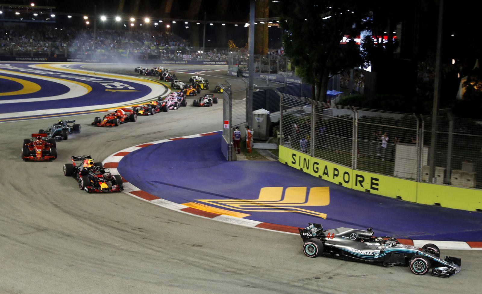 Hamilton Singapur Formel 1