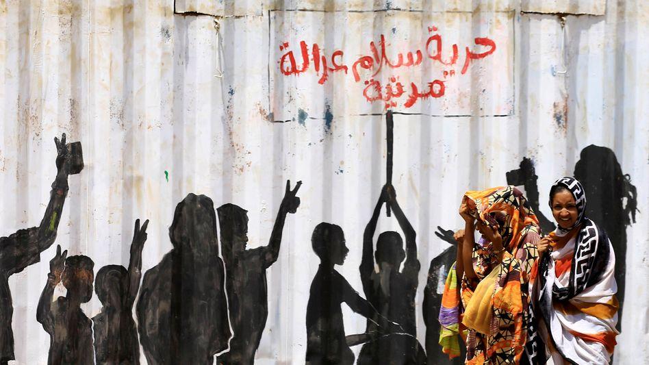 Revolutionäre Street-Art in Khartum, Juli 2019