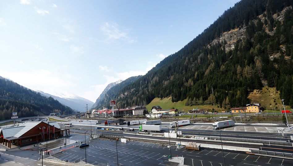 Brenner-Pass, Luftbild