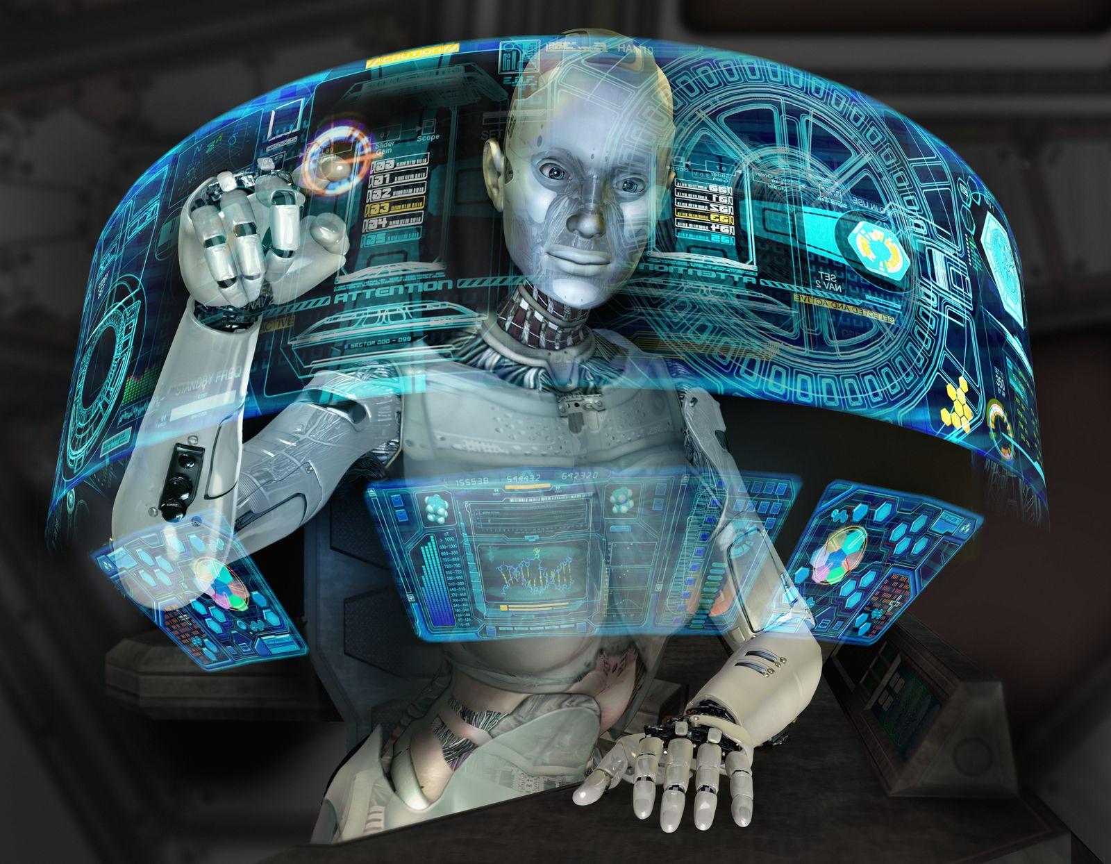 NICHT MEHR VERWENDEN! - Künstliche Intelligenz / Roboter am Computer