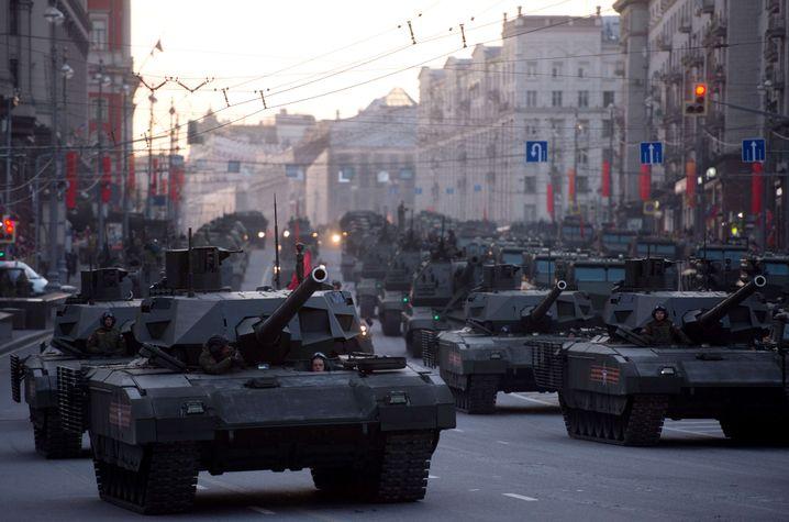 Russische Militärparade in Moskau