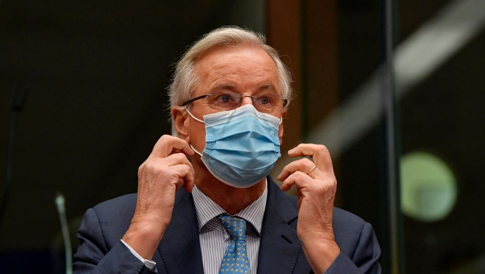 Michel Barnier am Montag in Brüssel