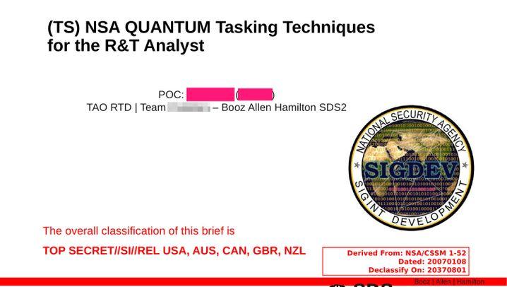 NSA-Dokumente: So übernimmt der Geheimdienst fremde Rechner
