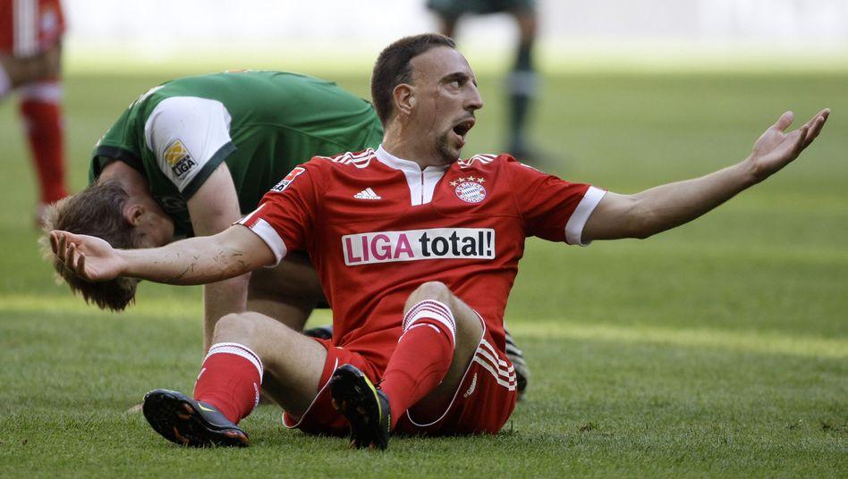 Bayern-Profi Ribéry: Blutergüsse an beiden großen Zehen