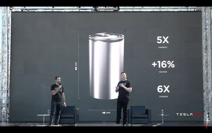 "Tesla presentation on ""Battery Day"" 2020: ""We're putting so much effort into making cells and kind of trying to reinvent every aspect of cell production."""