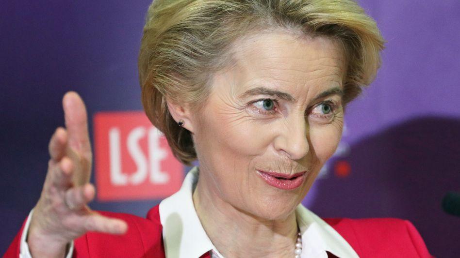 Hofft bei der Brexit-Übergangsphase auf mehr Zeit: EU-Kommissionschefin Ursula von der Leyen