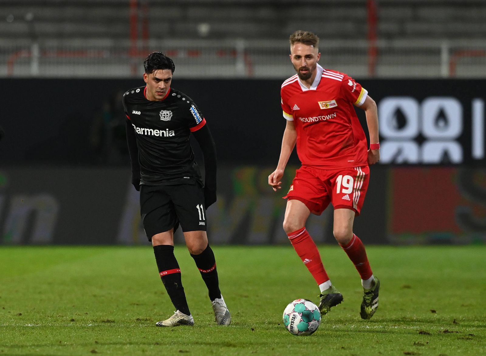 Fussball, Herren, Saison 2020/2021, 1. Bundesliga (16. Spieltag), 1. FC Union Berlin - Bayer Leverkusen (1:0), v. l. Na
