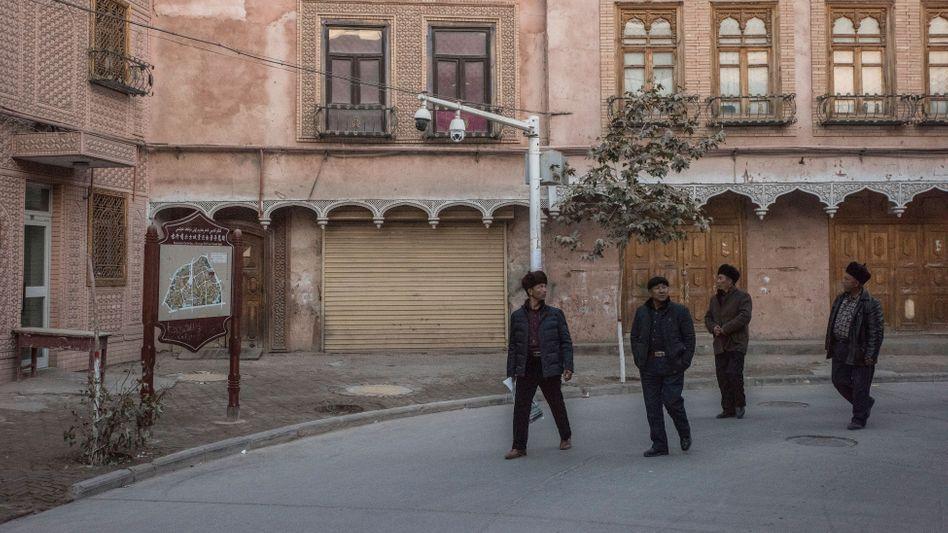 Überwachungskameras in Kaschgar