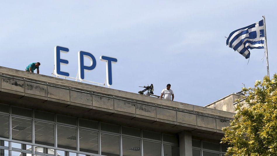 """Sender für Griechenland: """"Fernsehen, das von keiner Regierung kontrolliert wird"""""""