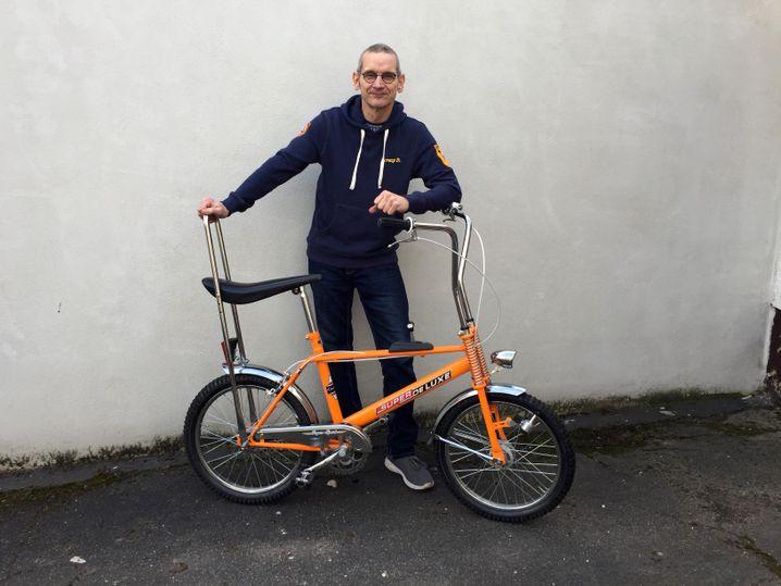 Christoph Dieckmann und eines seiner Bonanzaräder
