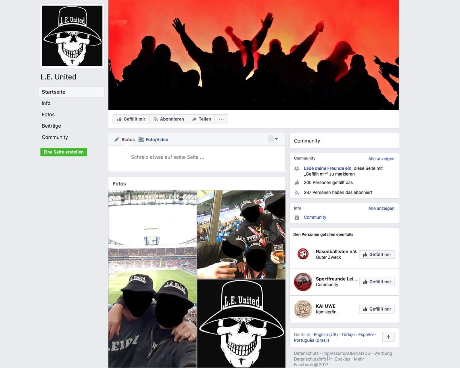 NUR ALS ZITAT/ EINMALIGE VERWENDUNG / L.E. United/ Facebook