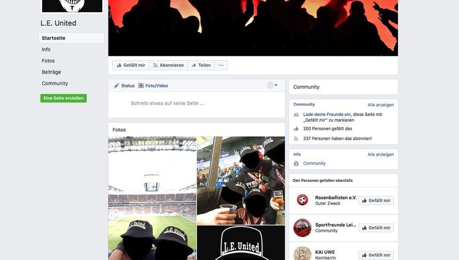"Facebook-Seite von ""L.E. United"""