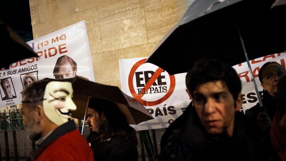 """Die Angestellten stehen im Regen: Spaniens auflagenstärkste Zeitung """"El País"""" in der Krise"""