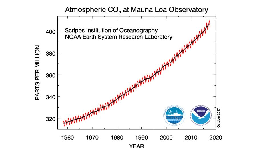 EINMALIGE VERWENDUNG Co2 NOAA full record
