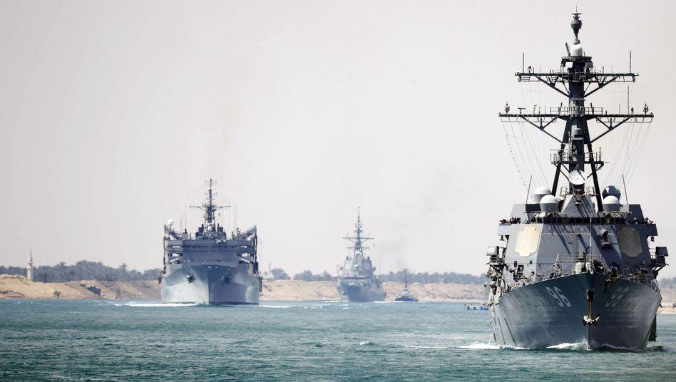 US-Trägerkampfgruppe im Suezkanal: Kurs Richtung Persischer Golf