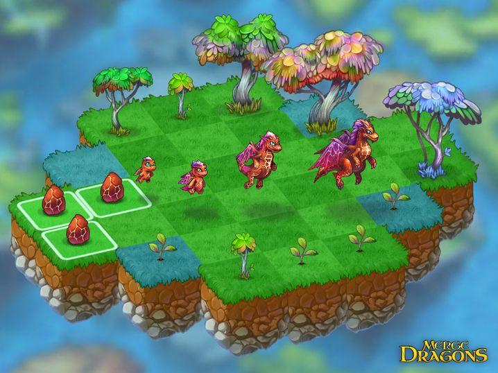 Mobile-Game »Merge Dragons!«: In manchen Situationen genau das Richtige