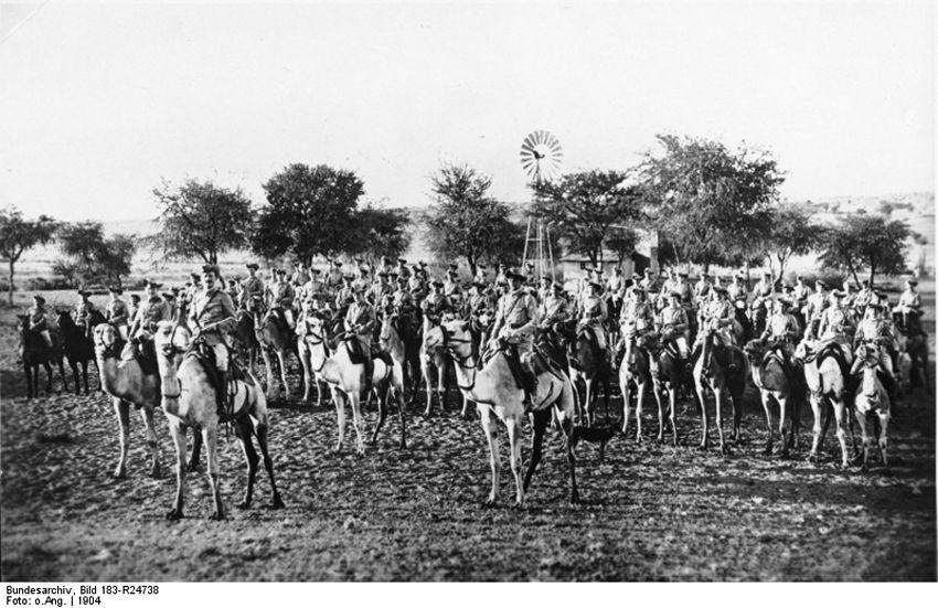 Рота наездников на верблюдах немецкой Schutztruppe