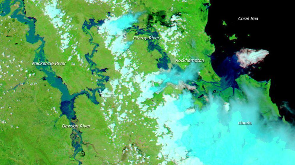 Flut in Australien: Zerstörerische Wassermassen