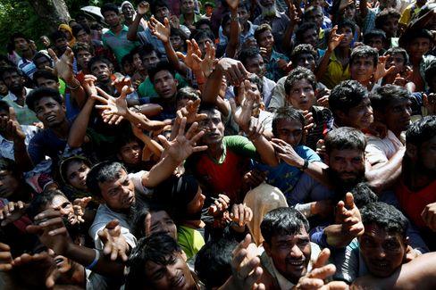 Rohingya-Flüchtlinge Ende 2017 in Bangladesch