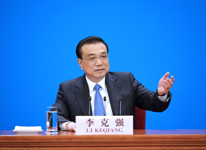 Chinas Premier Li Keqiang auf der Pressekonferenz zum Volkskongress