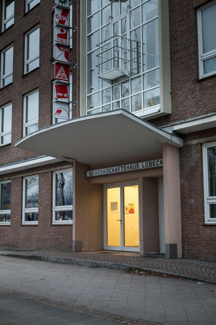 Mutmaßlicher Tatort Gewerkschaftshaus Lübeck