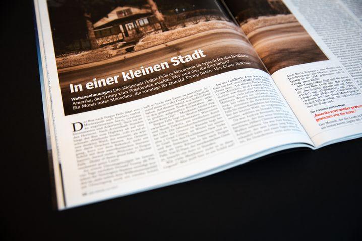 Reportage im SPIEGEL 13/2017