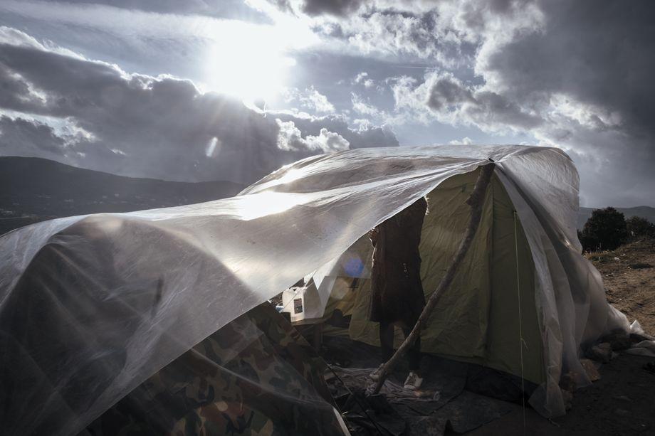 Überleben auf Samos: Im Winter läuft das Wasser in die Zelte