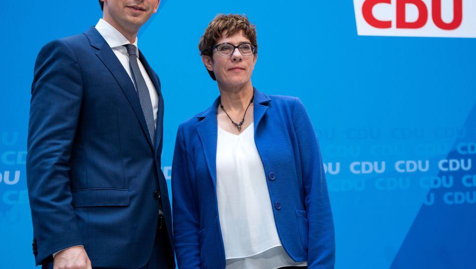 Österreichischer Wahlsieger Kurz, CDU-Chefin Kramp-Karrenbauer: ein Vorbild?