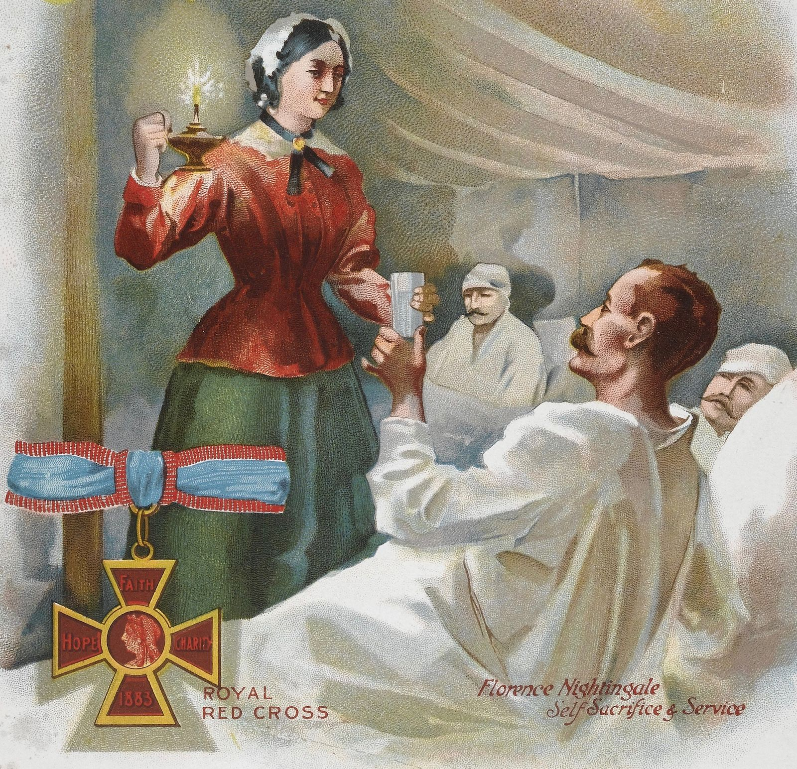 Florence Nightingale attends to Patients