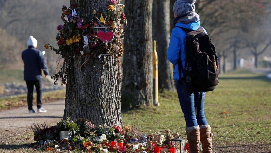 Gedenkstelle nahe dem Tatort in Freiburg