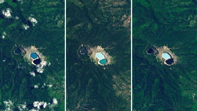 Seen auf dem Vulkan Kelimutu