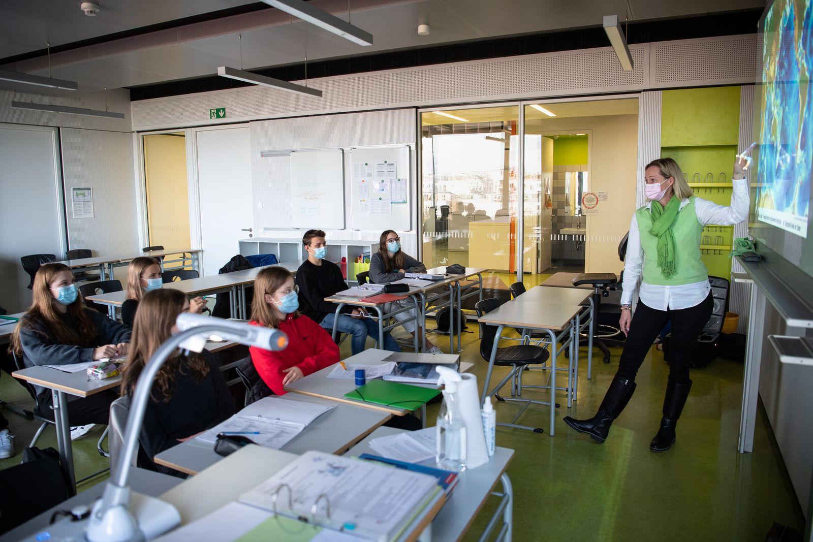 Coronavirus · Unterricht in einer Schulklasse
