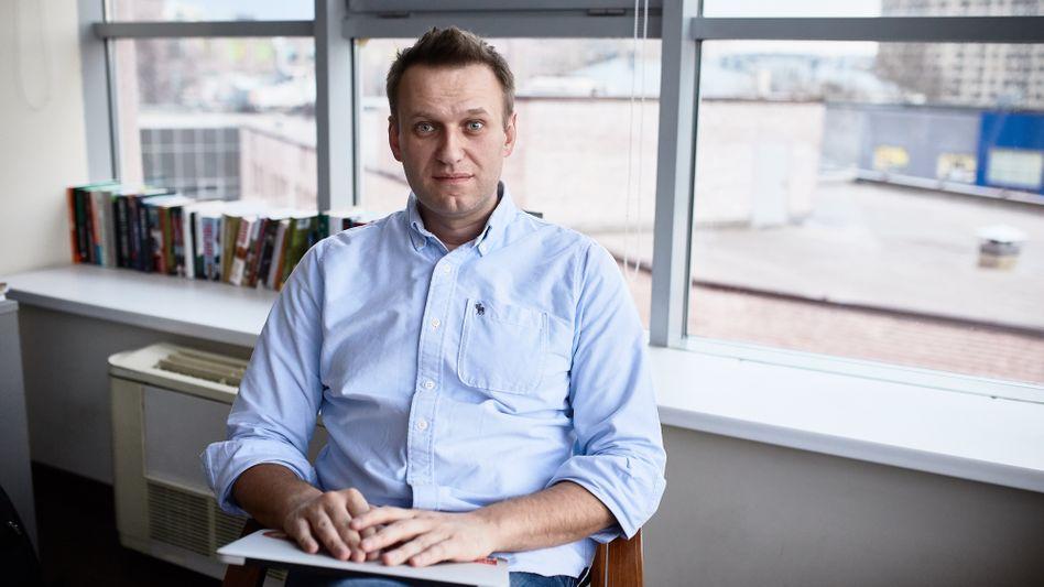 Alexej Nawalny in seinem Büro
