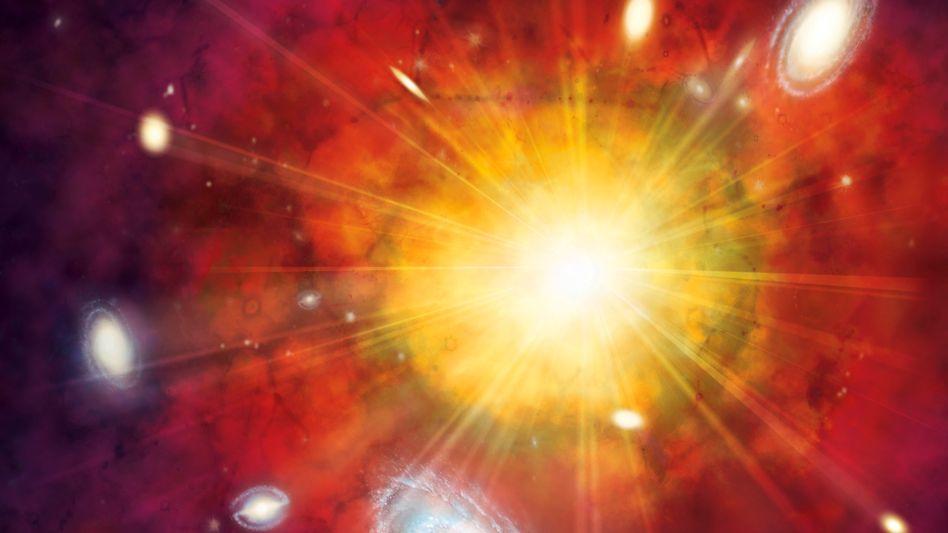 Urknall (künstlerische Darstellung): Vor 13.8 Milliarden Jahren entstand das Universum