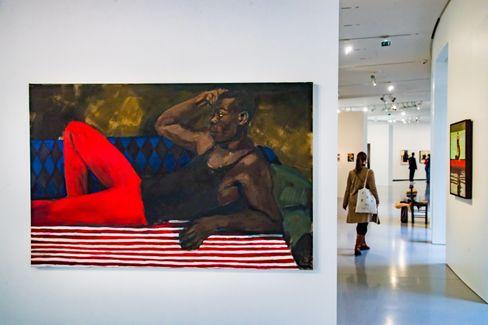 Ein Bild des britischen Künstlers Lynette Yiadom-Boakye