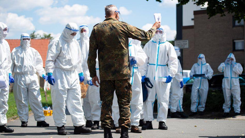 Bundeswehr-Soldaten im Einsatz gegen die Corona-Pandemie