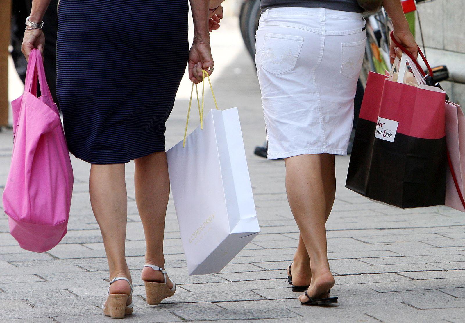 NICHT VERWENDEN Einkaufstüten / Konjunktur / Konsum