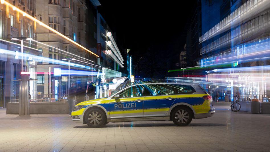 Innenstadt von Hannover während der Ausgangsbeschränkungen (im April)