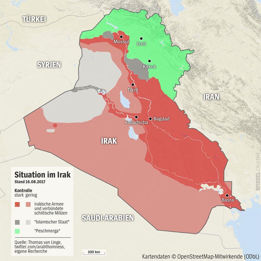Grafik Karte Irak - 16-08-2017