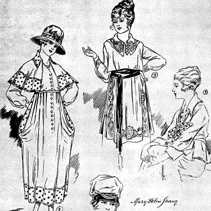 Modeentwurf mit geheimem Inhalt: Zeichnung aus dem Fundus des britischen Nationalarchivs
