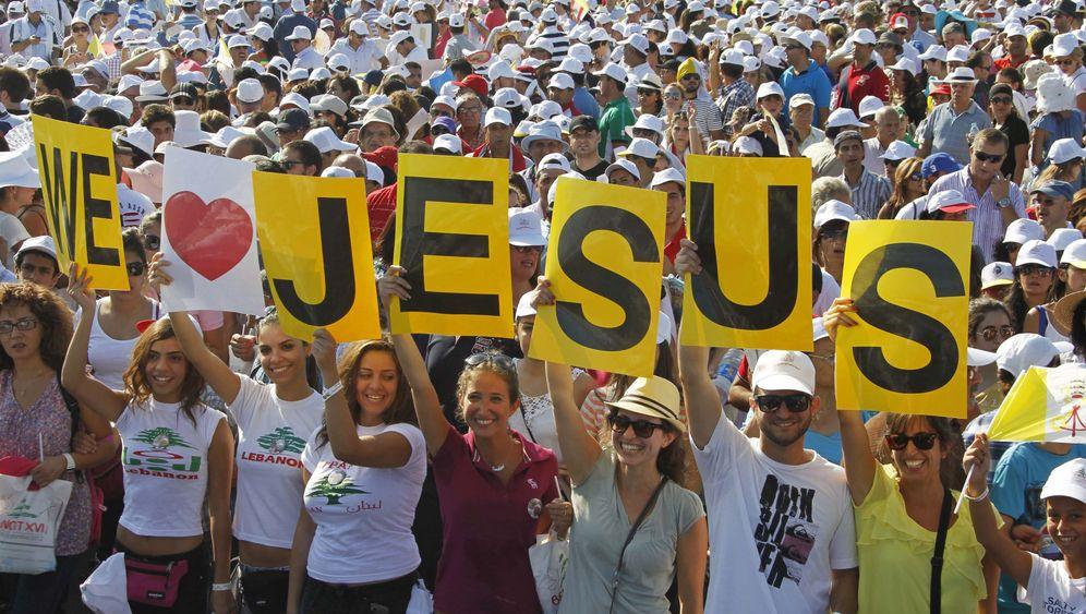 Freiluftmesse: Libanon jubelt dem Papst zu