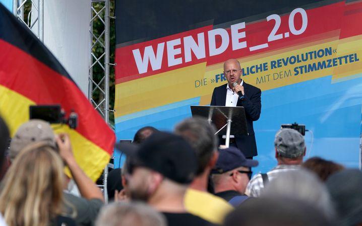 """Andreas Kalbitz Anfang August in Cottbus: Der eigentliche Netzwerker des """"Flügel"""""""