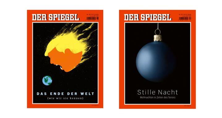 """SPIEGEL-Titelbilder """"Das Ende der Welt"""" und """"Stille Nacht"""""""