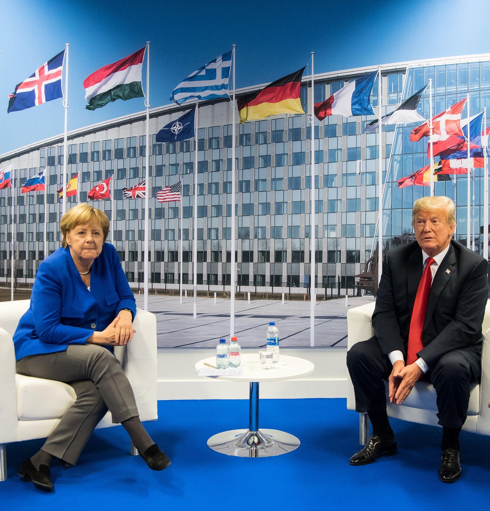 Nato-Gipfel Merkel Trump