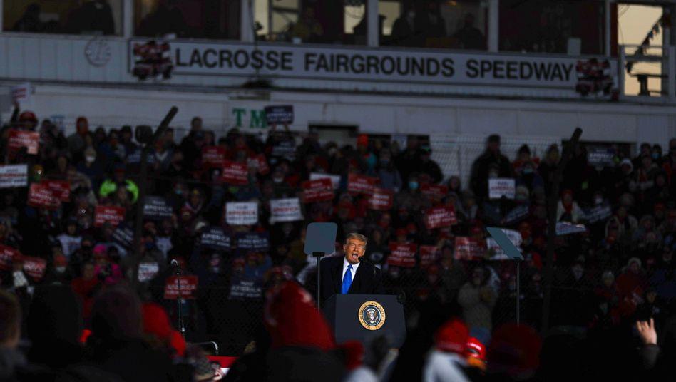 Gebrochene Versprechen: Trump bei einem Wahlkampfauftritt in Wisconsin