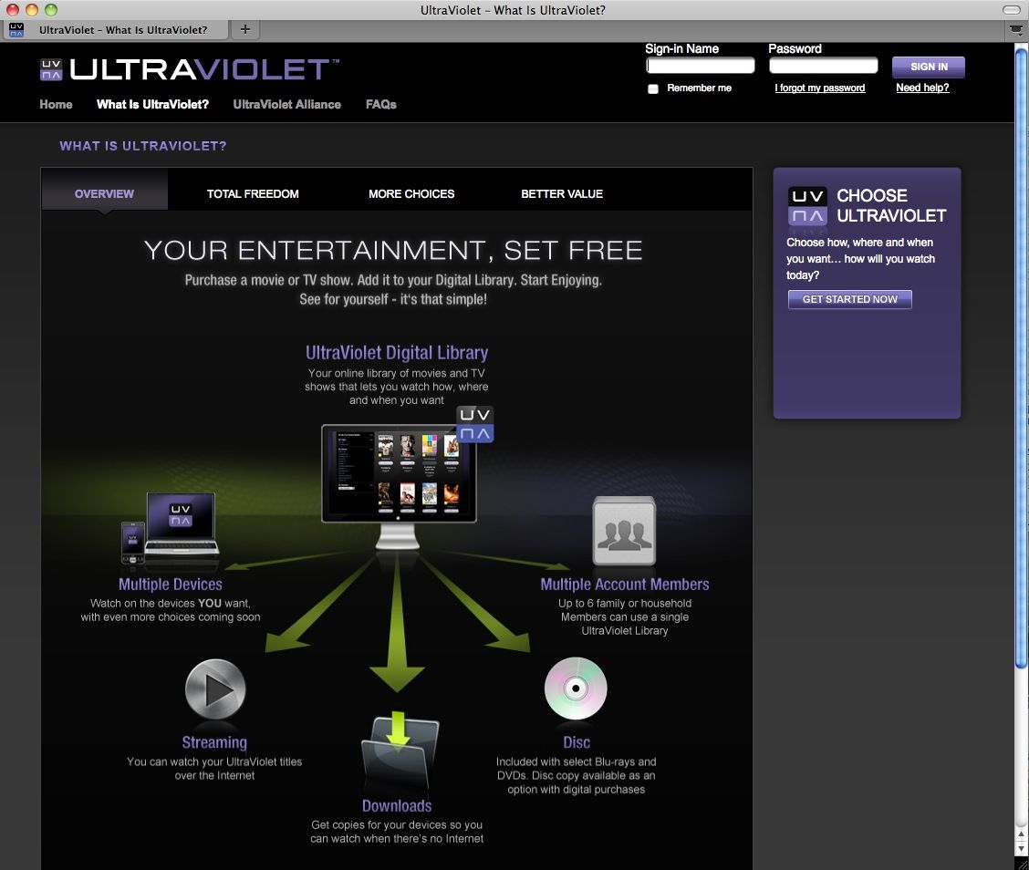 SCREENSHOT UltraViolet / Videostream / NETZWELT