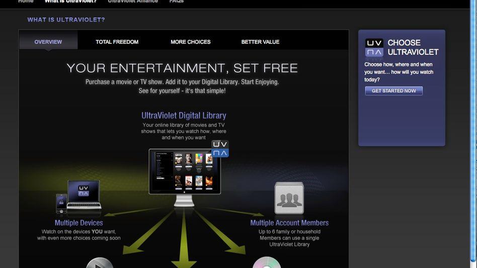 Videodienst Ultraviolet: Nutzer sollen leichter legal auf Filmmaterial zugreifen können