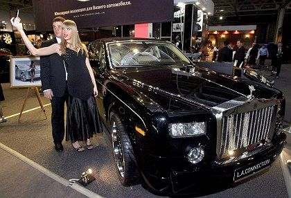 The Millionaire Fair in Moscow attracts Russia's rich.